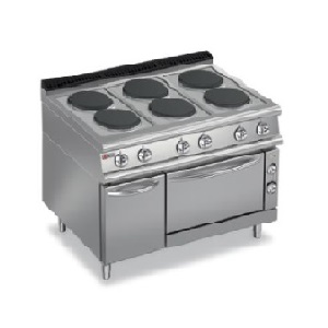 Round Hot Plate Electric Range On Oven