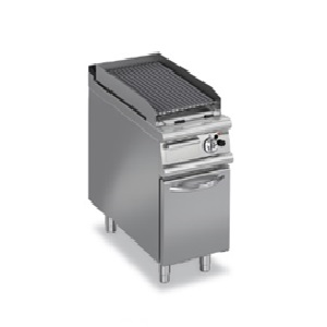 Gas Char Grill(Lava Rock Grills On Cupboard)